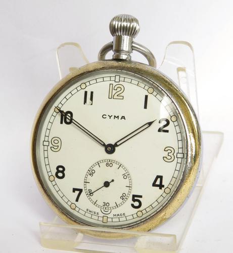 1940s Cyma Military Pocket Watch (1 of 4)
