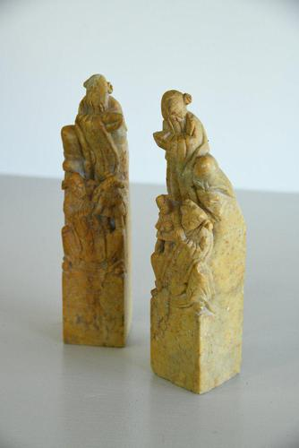 Pair of Chinese Soapstone Hand Seals (1 of 12)