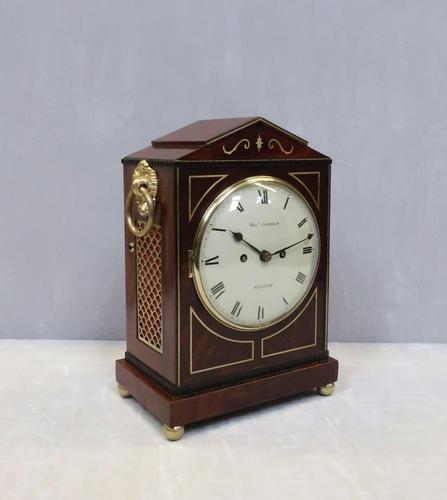 Regency Mahogany Bracket Clock by Thomas Connald (1 of 8)