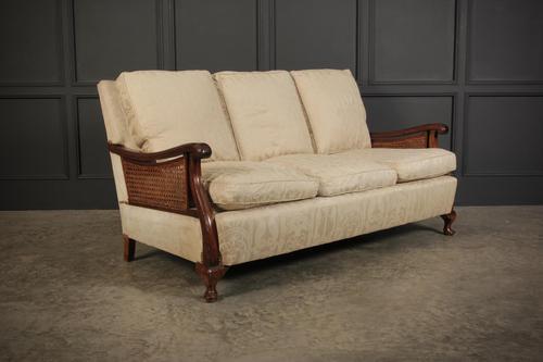 Mahogany 3 Seater Bergere Sofa (1 of 9)