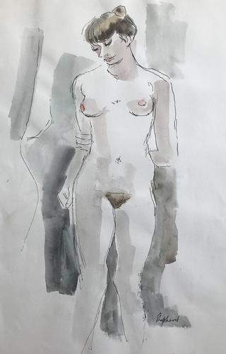 Original Watercolour 'Standing Figure' by Toby Horne Shepherd 1909-1993 (1 of 1)