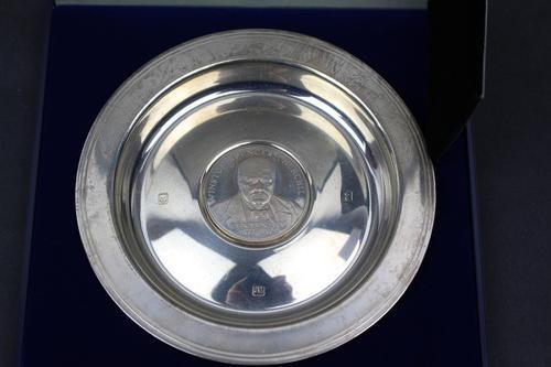 Limited Edition Silver Commemorative Churchill Plate (1 of 6)