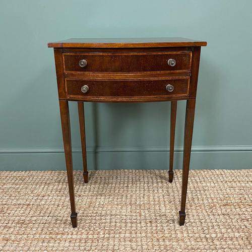 Elegant Victorian Mahogany Bow Front Antique Side Table (1 of 5)