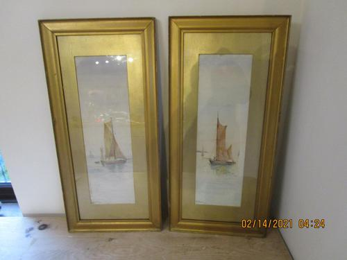 Pair or T P Fowler Watercolours (1 of 7)