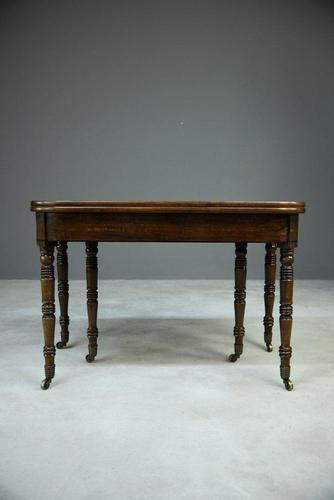 Antique Georgian Concertina Mahogany Dining Table (1 of 8)