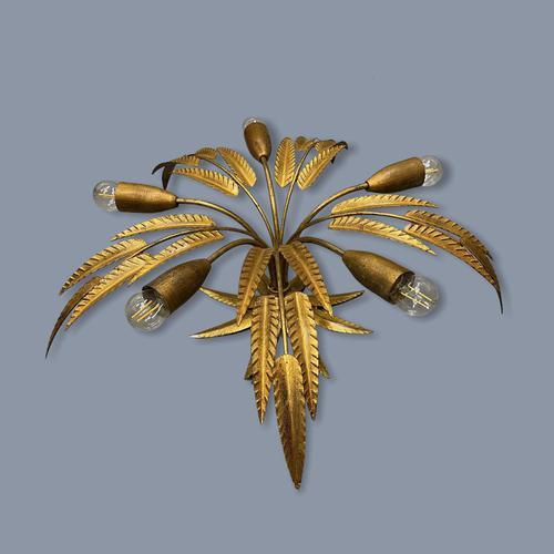 Spanish Ferro Art Gilt Palm Ceiling Light (1 of 11)