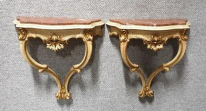 Good Pair of French Parcel Gilt Console Tables (1 of 12)