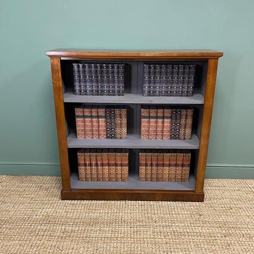 Victorian Mahogany Antique Open Bookcase (1 of 5)