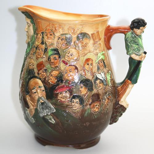 Fine & Large Royal Doulton Dickens Dream Novelty Jug by Noke c.1933 (1 of 10)