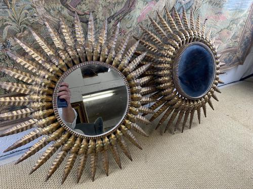 Pair of Spanish Gilt Brass Wall Mirrors (1 of 7)