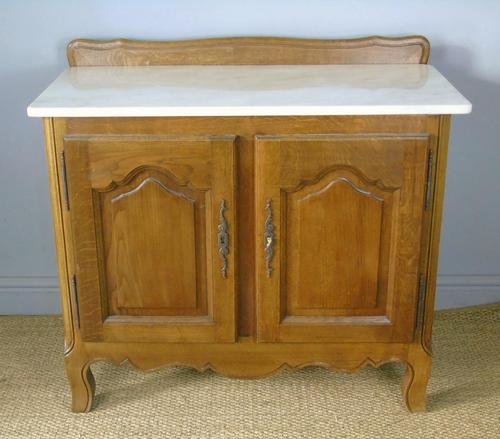 Antique Oak Marble Top Cabinet / Washstand (1 of 6)