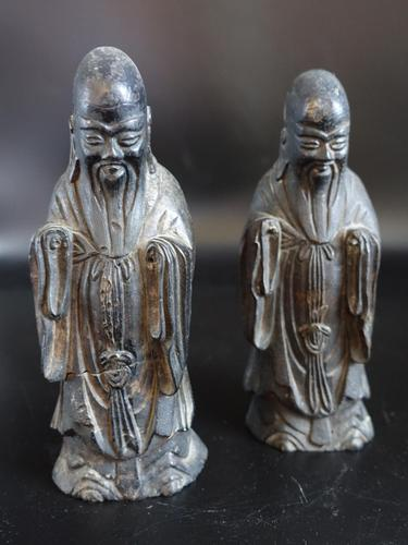 Pair of Late 18th or Early 19th Century Chinese Tomb Figures of Deities (1 of 5)