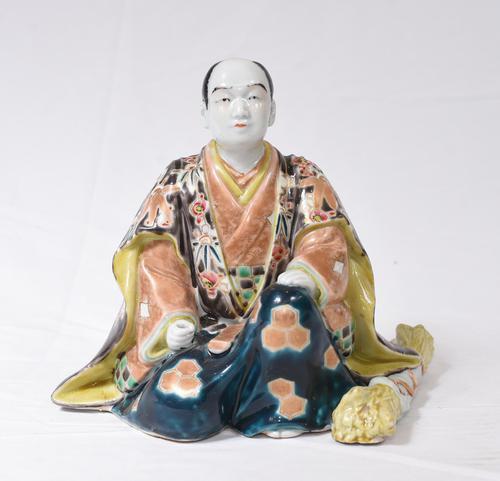 Japanese Kutani Porcelain Statue Male Figurine 1890 (1 of 9)