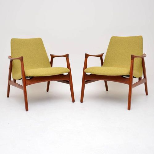 Pair of Danish Teak Armchairs by Arne  Hovmand-Olsen for Mogens Kold (1 of 14)