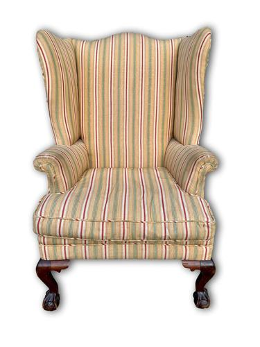 Late Victorian Wingback Armchair (1 of 5)