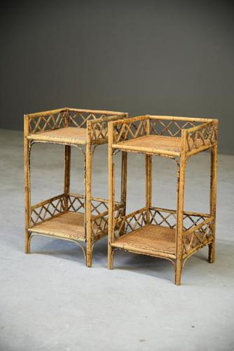 Cane & Bamboo Side Tables (1 of 8)