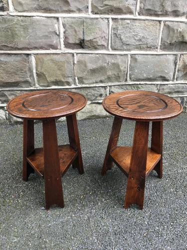 Pair of Arts & Crafts Oak Tables (1 of 9)