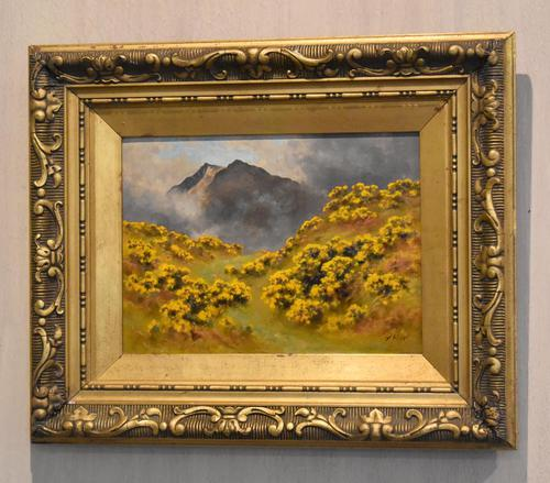 Oil Painting of Mount Snowdon by Alfred Oliver (1 of 8)