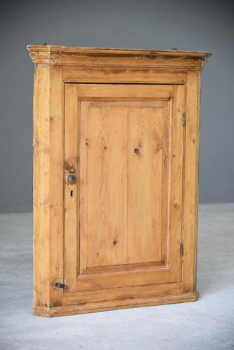 Rustic Pine Corner Cupboard (1 of 9)