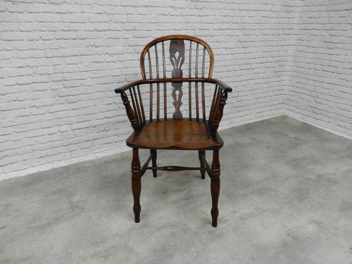19th Century Windsor Lowback Armchair (1 of 7)