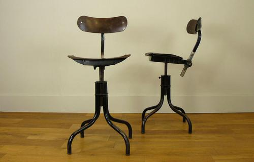Vintage Tansad Workshop Swivel Machinist's Work Chairs - We Have 1 Remaining (1 of 14)