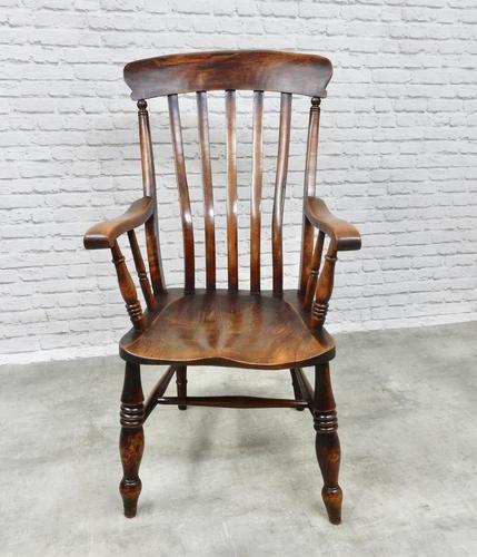 Large Grandfather Windsor Slatback Armchair (1 of 7)