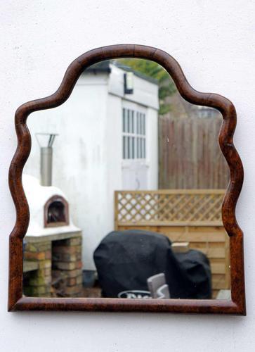 Georgian  Queen Anne Style Burr Walnut Wall Mirror (1 of 17)