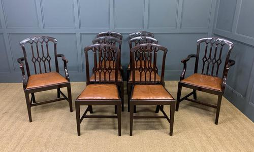 Set of 8 Mahogany Chippendale Style Dining Chairs (1 of 13)