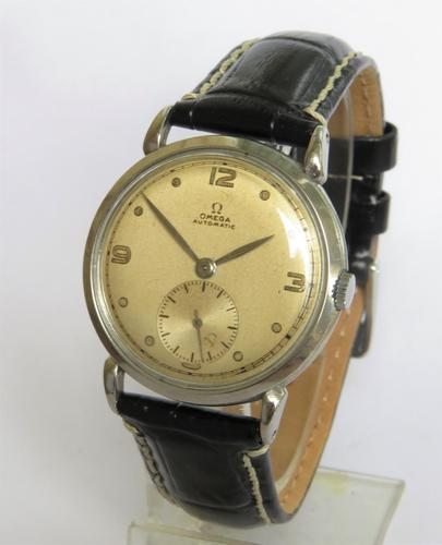 Gents 1940s Omega bumper automatic wrist watch (1 of 5)