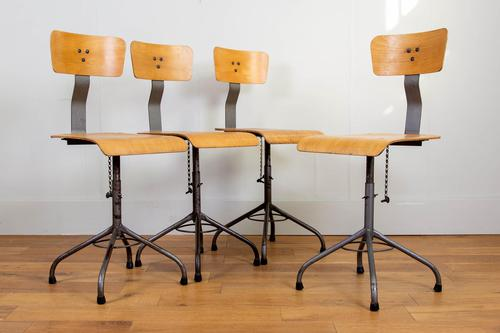 Vintage Industrial Bellow Stools - Lancashire Find (1 of 13)