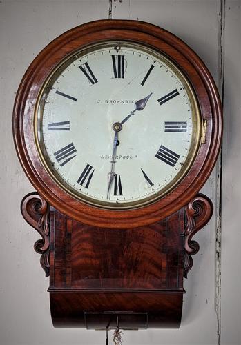 19th Century Mahogany Fusee Wall Clock (1 of 4)
