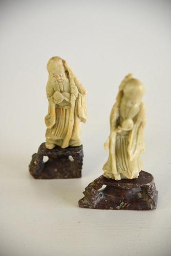 Antique Chinese Soapstone Figures (1 of 11)