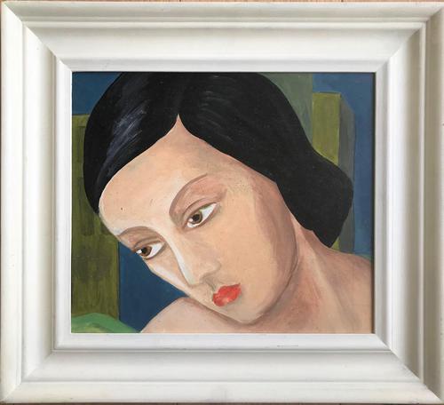 Original Oil on Board 'Portrait Head'. Unsigned. c.1960 (1 of 1)