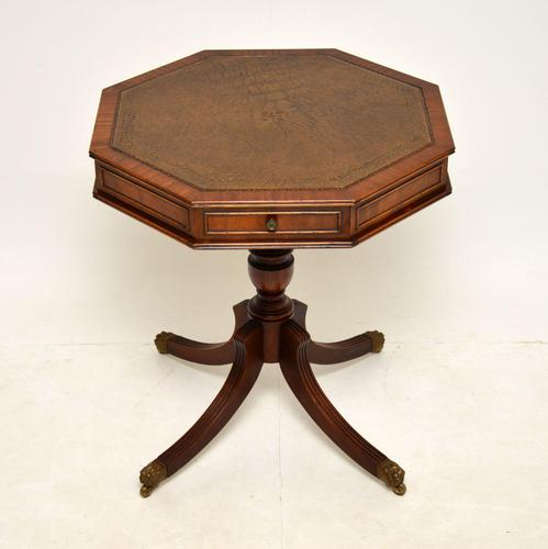 Regency Style Mahogany  Leather Top Drum Table (1 of 8)
