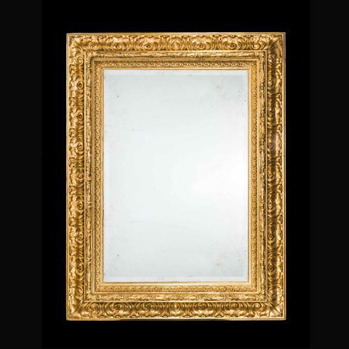 Fine Italian 19th Century Giltwood Mirror (1 of 2)
