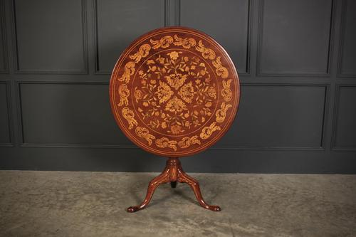 18th Century Dutch Marquetry Inlaid Occasional Table (1 of 14)