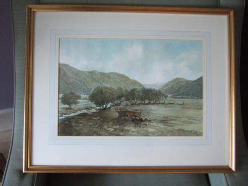 "Sir John Stibbon OBE:  watercolour entitled ""Towards Nantgwynant from Beddgelert, Snowdonia"" (1 of 4)"