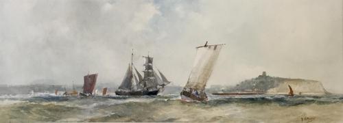 Frank Henry Mason Watercolour 'Scarborough' (1 of 2)