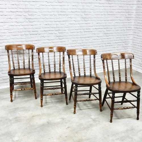 Set of 4 Windsor Country Kitchen Chairs (1 of 6)