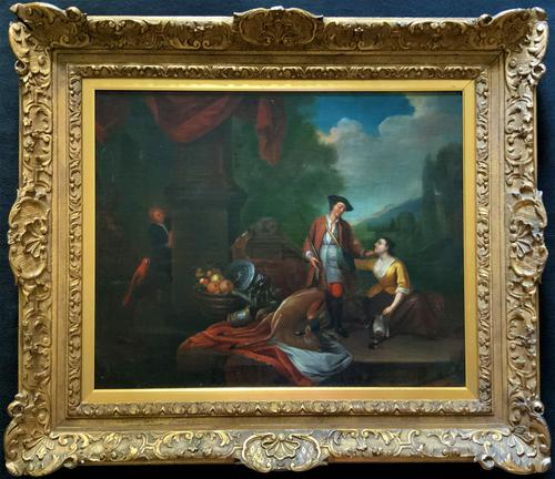 Circle of John Theodore Heins Fine Large 18th Century Hunting Oil Painting (1 of 11)