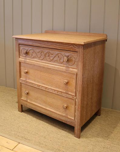 Small Limed Oak Chest of Drawers (1 of 10)