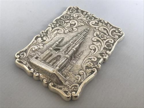 Solid Silver Castle Top Card Case (1 of 2)