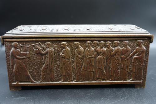 Beautifully Cast Late 19th Century Continental Bronze Jewellery Box (1 of 6)