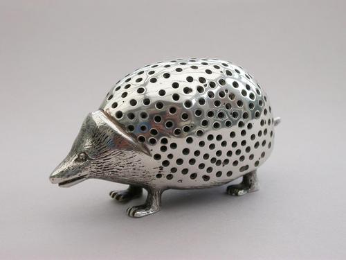 Edwardian Novelty Cast Silver Porcupine Pin Cushion (1 of 15)