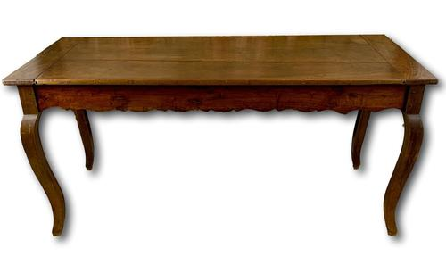 19th Century French Fruitwood Farmhouse Table (1 of 8)