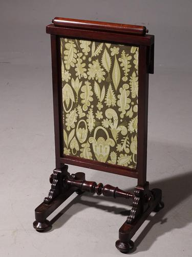 An Early Victorian Fire Screen with Movable Sections (1 of 5)