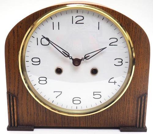 Really Good Hat Shaped Mantel Clock – Striking 8-day Arched Top Mantle Clock (1 of 10)