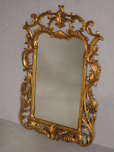 Classical Late 19th Century  Chippendale Style Giltwood Mirror (1 of 4)
