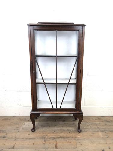 Antique Edwardian Single Door Display Cabinet (1 of 9)