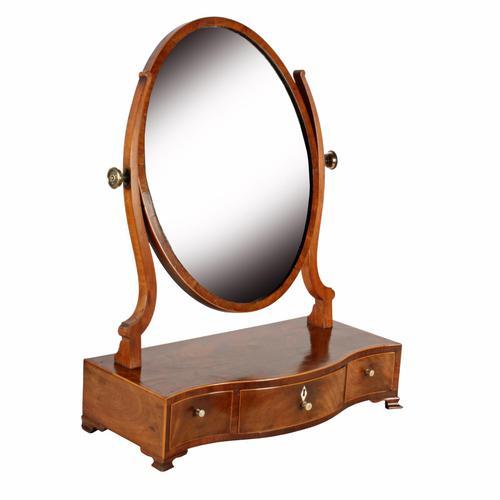 Georgian Serpentine Dressing Mirror (1 of 8)